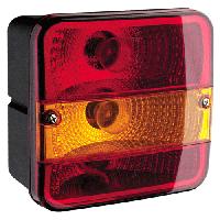 Задняя блок-фара Wesem LT2.26600 : габарит, указатель поворота, стоп-сигнал.140x140 мм