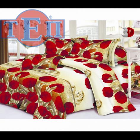 Качественное постельное белье ТЕП  RestLine 115  «Тюльпан» 3D дешево от производителя., фото 2