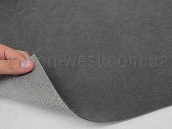 Ткань потолочная темно-серая Frota 4, автовелюр на поролоне 2 мм с сеткой шир. 1.53 метра