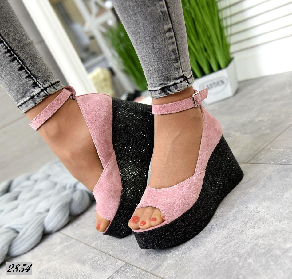 Женские Туфли на платформе с ремешком. Размер 37