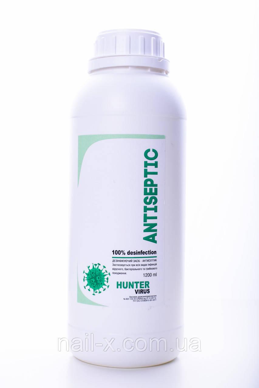 """Кожный медицинский антисептик  """"Antisertic""""  1 литр 200 мл дезинфектор для рук и поверхностей"""