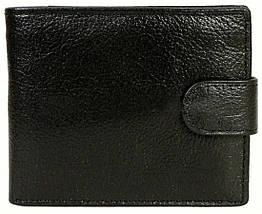Мужской кошелек из натуральной кожи черный BR-S 1013609239, фото 2