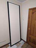 Раздвижные двери на заказ в черном профиле