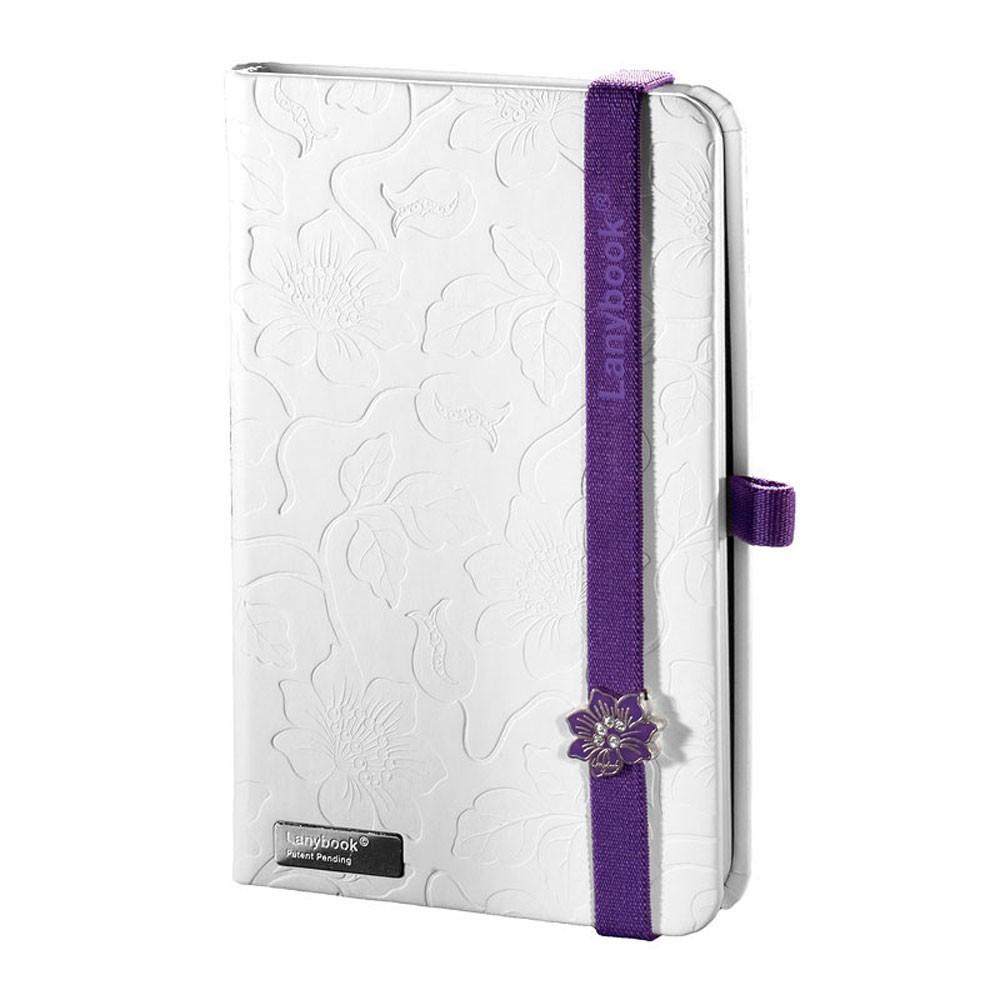 Записная книжка Innocent Passion LanyBook, белый блок в линейку, кожзам, тиснение, белая