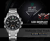 Часы мужcкие люксовый бренд  из светодиодов  кварцевые  нержавеющей стали , фото 1