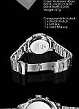Часы мужcкие люксовый бренд  из светодиодов  кварцевые  нержавеющей стали , фото 3