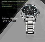 Часы мужcкие люксовый бренд  из светодиодов  кварцевые  нержавеющей стали , фото 4
