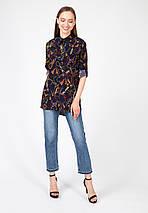 """Женская блуза-рубашка """"TIGRESS"""" с принтом и длинным рукавом (2 цвета), фото 2"""