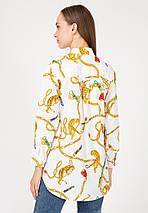 """Женская блуза-рубашка """"TIGRESS"""" с принтом и длинным рукавом (2 цвета), фото 3"""
