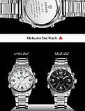 Часы мужcкие люксовый бренд  из светодиодов  кварцевые  нержавеющей стали , фото 5