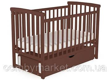 Кроватка детская DeSon Mriya с ящиком Орех