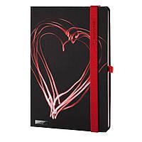 Записная книжка Night Light LanyBook, А5, белый блок в клетку, кожзам, черная