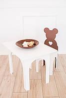 Комплект KiddyRoom Ведмедик стіл + стілець Коричневий