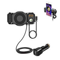 FM-трансмиттер-держатель с Bluetooth Eplutus FB-01