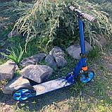 Самокат двухколесный нагрузка 100 кг складной, усиленная рама Best Scooter 2021, фото 3
