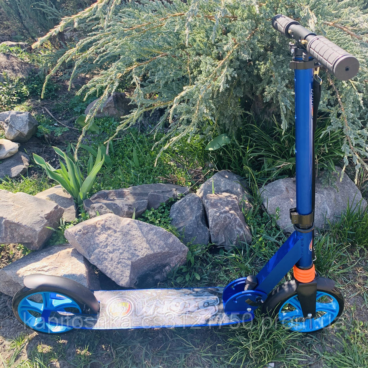 Самокат двухколесный нагрузка 100 кг складной, усиленная рама Best Scooter 2021