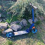 Самокат двухколесный нагрузка 100 кг складной, усиленная рама Best Scooter 2021, фото 6