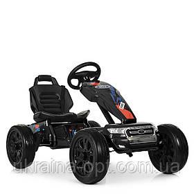 Электрокарт M 4084E-2 Ford, черный. 2 мотора. Нагрузка до 30кг. Скорость: 3-5 км/ч. Размер ДхШхВ: 111х65х68 см