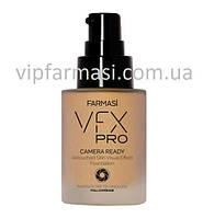 Тональний крем з ефектом фотофільтру VFX PRO Camera Ready 02 натуральний беж, Farmasi, 30 мл