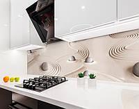 Кухонный фартук Камни и Песок (виниловая самоклеющаяся пленка для кухни, скинали) текстура, бежевый, 600*3000 мм