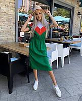 """Платье женское льняное на молнии размеры 42-48 (2цв) """"Tasa Shop"""" недорого от прямого поставщика, фото 1"""