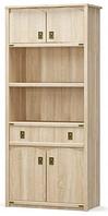 Книжный шкаф 4Д1Ш Валенсия Мебель Сервис