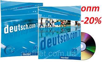 Немецкий язык / Deutsch.com / Arbeitsbuch+Kursbuch+CD. Учебник+Тетрадь (комплект с диском), 1 / Hueber