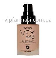 Тональний крем з ефектом фотофільтру VFX PRO Camera Ready 04 натуральний рожевий, Farmasi, 30 мл