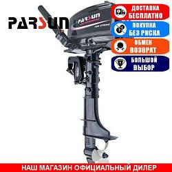 Лодочный мотор Parsun Т5.8 BMS +коннектор топл. бака. 2-х тактный. 5,8л/с; (Мотор для лодки Парсун 5,8);