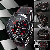 Street Racer GT Мужские часы   Черные с красным