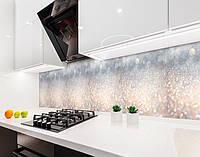 Кухонный фартук Блеск (виниловая самоклеющаяся пленка для кухни, скинали) мерцание текстура серый, 600*3000 мм