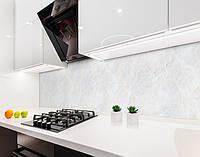 Кухонный фартук Серый мрамор (виниловая самоклеющаяся пленка для кухни, скинали) мраморный, под камень, серый, 600*3000 мм