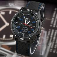 Street Racer GT Мужские часы   Черные с синим, фото 1