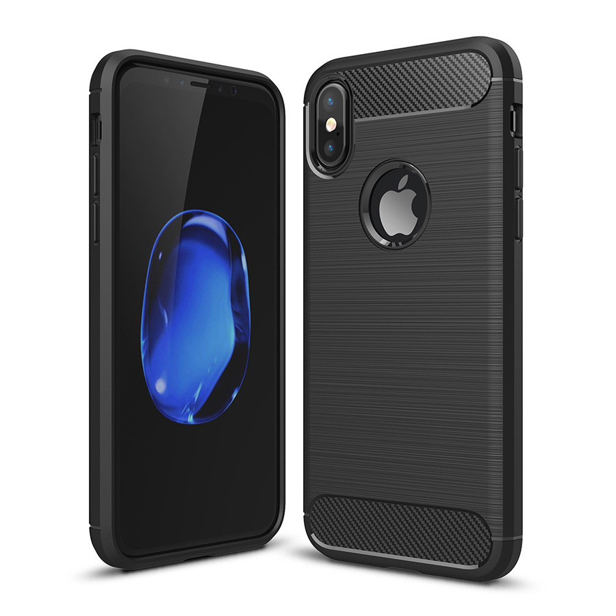 Чехол накладка iPAKY для iPhone X Black Slim TPU