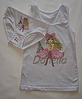 Детский комплект трусики и маечка  белья на девочку Donella лиловый с девочкой.4-5 лет.