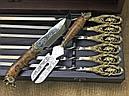 """Ексклюзивний набір для шашлику """"Кабан"""" шампура+ніж+вилка, фото 2"""