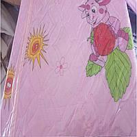 Летнее одеяло - покрывало детское размер 110/150 х/б ткань