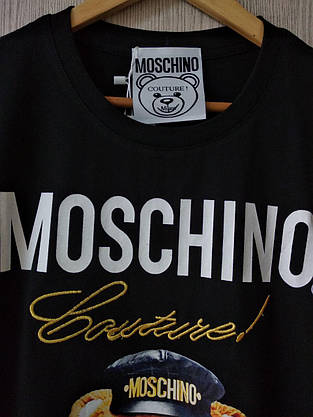 Футболка женская Moschino черная, фото 2