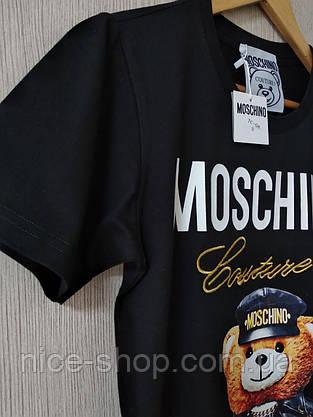 Футболка женская Moschino черная, фото 3