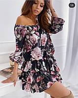 Женское Платье летнее цветы