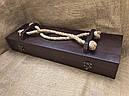 """Эксклюзивный набор шампуров с бронзовыми ручками """"Кабан"""" с ножом и вилкой, в кейсе из натурального дерева, фото 5"""