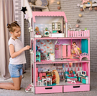 """Кукольный домик для Барби NestWood """"ЛЮКС"""" 5 комнат (114см), без мебели"""