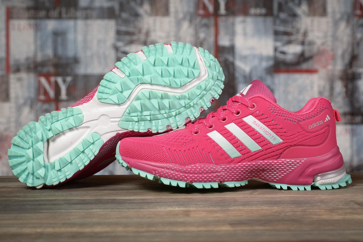 Купить Кроссовки женские Adidas Marathon TN малиновые, АдиДас Марафон, дышащий материал, прошиты. Код DO-17001 40