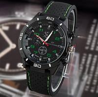 Street Racer GT Мужские часы   Черные с зеленым, фото 1