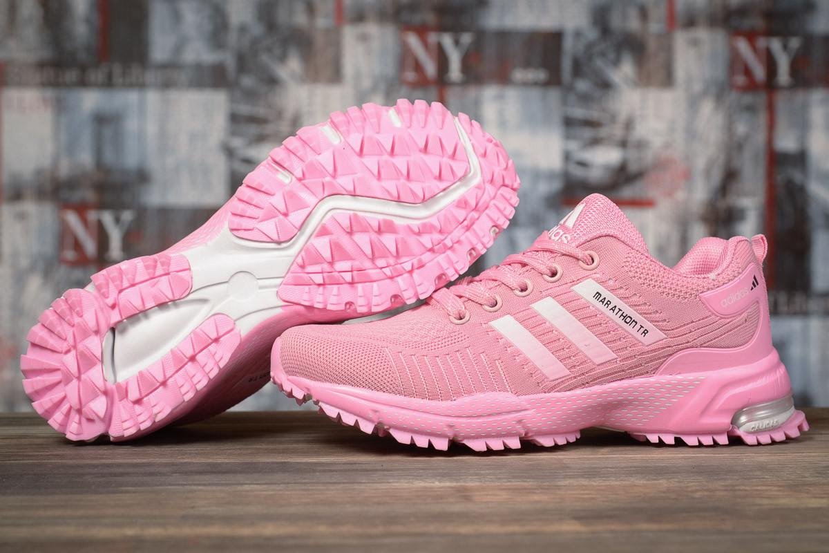 Купить Кроссовки женские Adidas Marathon TN розовые, АдиДас Марафон, дышащий материал, прошиты. Код DO-17002 40