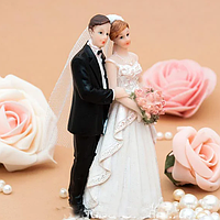 Ух Ты! Свадебная Фигурка на торт 15 см, Керамическая