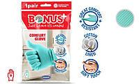 Рукавички латексні Comfort (З бавовняної підкладкою) S - Bonus+