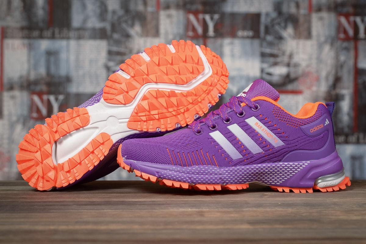 Купить Кроссовки женские Adidas Marathon TN фиолетовые, АдиДас Марафон, дышащий материал, прошиты. Код DO-17003 40