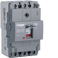 Автоматический выключатель корпусный Hager HDA063L 3P 18kA 63A x160