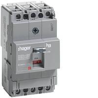 Автоматический выключатель корпусный Hager HDA080L 3P 18kA 80A x160